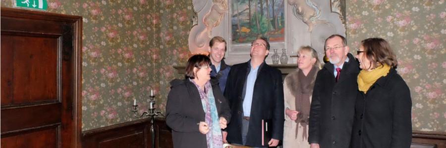 Der Landrat im Schloss Senden – Beletage macht guten Eindruck