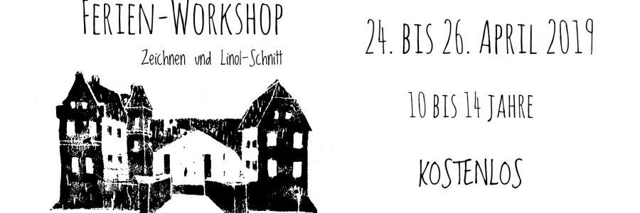 Ferien-Workshop Zeichnen und Linol-Schnitt