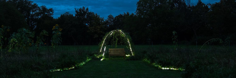 Einladung in den illuminierten Garten