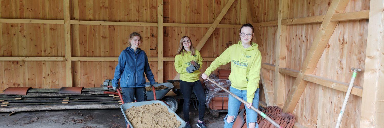 Die Jugendbauhütte zu Gast am Schloss Senden